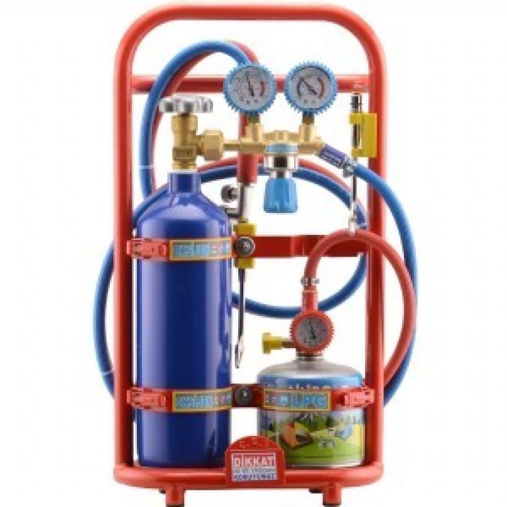 oksijen kaynak seti 6 litre luks kartus tuplu alev geri tepme emnniyet ventilli